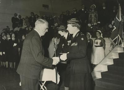 Photograph of the Princess Royal at the Presentation of Colours to the Leicestershire Branch