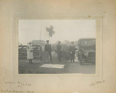 Photograph of Norfolk/68 and Norfolk/25 Detachments undertaking Fundraising