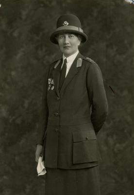 Photograph of Margaret Harker, County Director of the Norfolk Branch of the British Red Cross