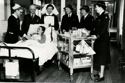 Photograph of the Trolley Shop at Tynemouth Infirmary, Whitley Bay; RCB/2/49/5/1