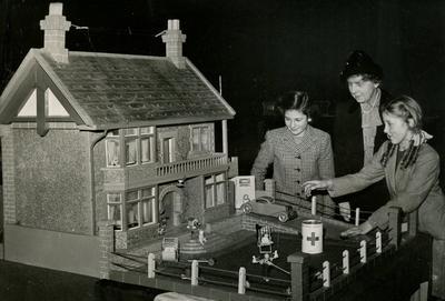 Photograph of a Doll's House at a Christmas Fair; RCB/2/49/5/4
