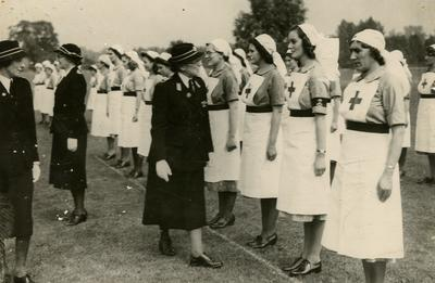 Inspection by Dame Beryl Oliver at a Rally