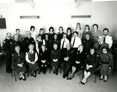 Photograph of the Wokingham Red Cross Centre Members gathering to Celebrate the 80th Anniversary of its Founding