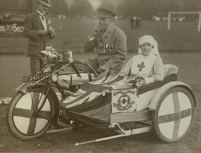 Photograph of a British Red Cross Vehicle at a Jamboree in Palmer Park, Reading