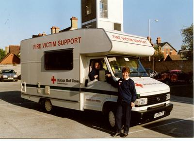 Photograph of the Berkshire Branch Fire Victim Support Vehicle
