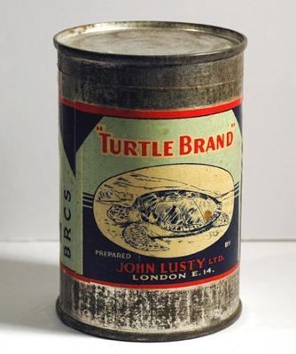 Tin of Lusty's Real Turtle Soup BRCS