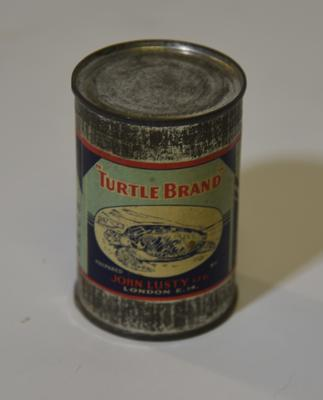Tin of Lusty's real turtle soup