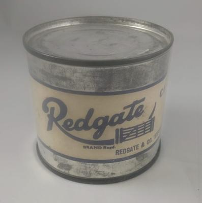 Tin of Redgate bacon
