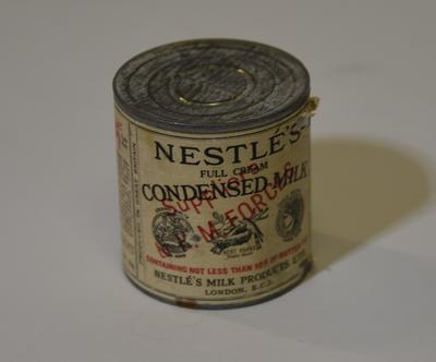 Tin of Nestle's Condensed Milk