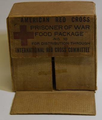 Food parcel provided by the American Red Cross for Prisoners of War