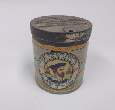 "Players Navy Cut ""Medium"" cigarette tin."