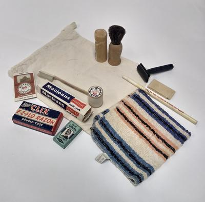 Joint War Organisation comforts bag with contents