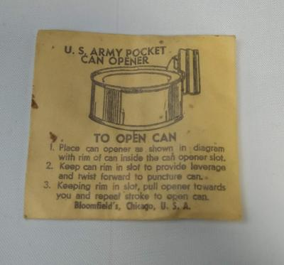 US Army Pocket Can Opener in original packet