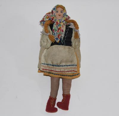 Polish doll with blond plaits
