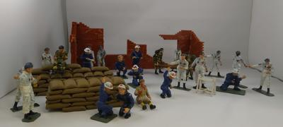Set of models illustrating the work undertaken by British Red Cross Civil Defence volunteers