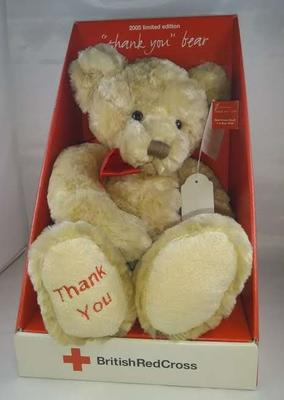 Soft toy 'Thank you' teddy bear, produced as part of Red Cross Week 2005; Russ Berrie and Co; Toys and Games/teddy bear; 2261/1