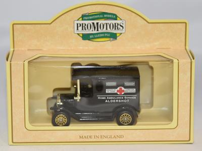 Model ambulance: 'Home Ambulance Service Aldershot.'