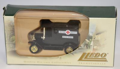 Lledo Promotionals model ambulance: British Red Cross Society Bristol Branch.