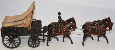 Model of a horse drawn ambulance