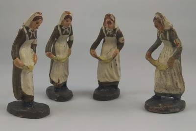 Set of Four Identical Models of Red Cross Nurses