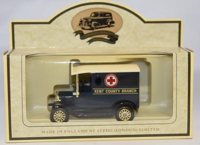 Model ambulance commissioned for Kent Branch based on the Lledo Model 'T' Ford Van.