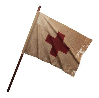 Red Cross Flag Flag carried during the Franco-Prussian War
