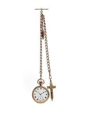 Gold fob watch