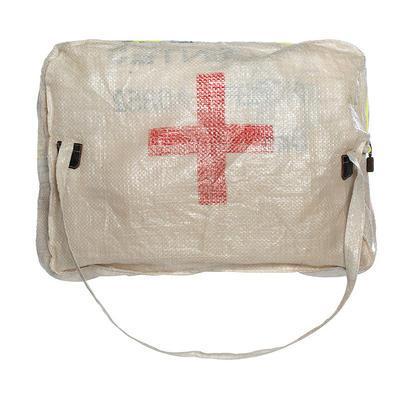 Shoulder bag made from food sacks in Angola