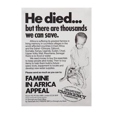 Disasters Emergency Committee (DEC) Famine in Africa Appeal Poster