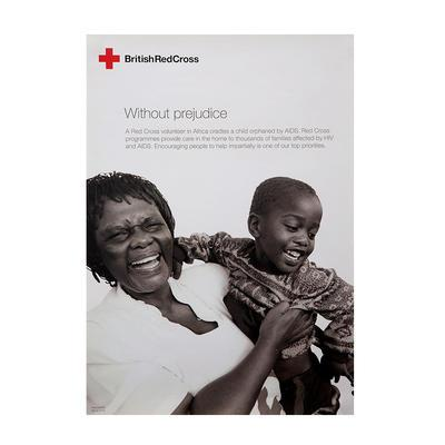 Poster highlighting Red Cross programmes providing care to families affected by HIV and AIDS