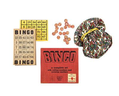 Bingo game gifted by the American Red Cross