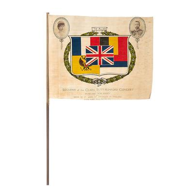 Souvenir flag of the Clara Butt-Rumford Concert at the Royal Albert Hall