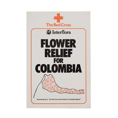 Poster for the Red Cross Interflora Flower Relief for Columbia Appeal