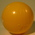 Small yellow plastic ball