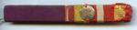 Ribbon bar for the MBE and Voluntary Medical Services medal