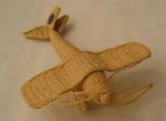 Miniature aeroplane made from string