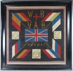 Framed tapestry: 'WB VAD 1916-17'