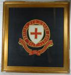 Framed embroidery: 'British Red Cross Society -Staffordshire 54 Detachment'