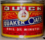 tin of Quick Quaker Oats