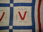 Quilt made by the Upper Haynesville Women's Institute, Milville, New Brunswick, Canada in 1943