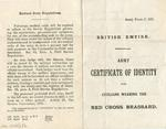 Army Form C.337: British Empire Army Certificate of Identity for Civilians Wearing the Red Cross Brassard