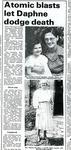 Photocopy Press Cutting regarding the Death of Daphne Davidson