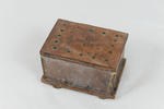 Leather and wood box