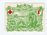 Postage stamp: British Red Cross, Balkan War  1912-1913