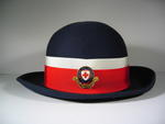 Navy felt hat with officers