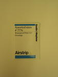 packet of 'Airstrip' waterproof first aid dressings