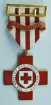 """British Red Cross Medical Officer medal and ribbon with """"Medical Officer"""" bar"""