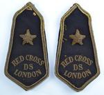 pair of British Red Cross epaulettes