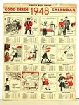 Junior Red Cross Good Deeds 1948 Calendar