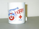 China mug promoting the Red Cross Irvine Appeal